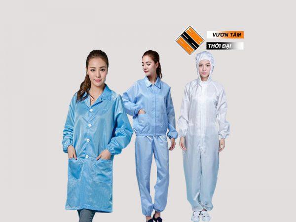 Các loại quần áo phòng sạch có tinh năng chống tĩnh điện