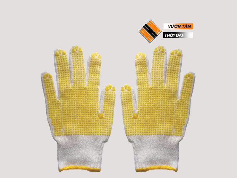 Găng tay sợi phủ hạt nhựa